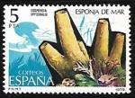 Stamps Spain -  Fauna Invertebrados - Esponja de mar