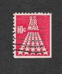 Sellos de America - Estados Unidos -  C72 - Estrellas