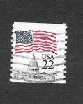 Sellos de America - Estados Unidos -  2115 - Bandera
