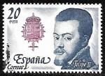 Stamps Spain -   Reyes de España. Casa de Asturias  - Felipe II
