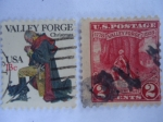 Stamps United States -  Christmas - Valley Forge.