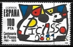 Sellos de America - España -  Homenaje a Pablo RuizPicasso -