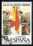 Sellos de Europa - España -  Dia de las Fuerzas Armadas - Juan Carlos I renovando su juramento a la bandera