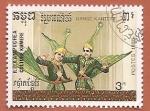 Stamps Cambodia -  R.P. Campuchea  Cultura Khmere - Danza clásica Khmer