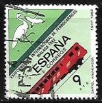 Stamps Spain -  Congreso Internacional de Ferrocarriles - Cartel Anunciador  y tren
