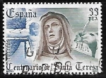 Stamps Spain -  IV Centenário de la muerte de Santa Teresa de Ávila