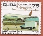 Stamps : America : Cuba :  Avión de Cubana - Multimodalismo