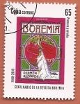Stamps : America : Cuba :  Centenario de la revista ilustrada Bohemia - primera portada