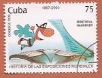 Stamps : America : Cuba :  Exposiciones Mundiales - Montreal - Hannover