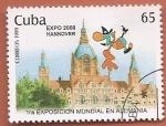 Stamps : America : Cuba :  1ª exposición Mundial en Hannover - Expo 2000