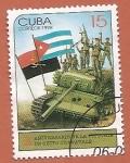 Stamps : America : Cuba :  X aniv de la Victoria de Cuito Cuanavale