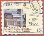 Stamps : America : Cuba :  Exposición Mundial de Filatelia España 2000 - Palacio de Cristal