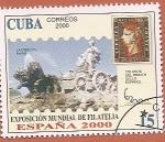 Stamps : America : Cuba :  Exposición Mundial de Filatelia España 2000 - La Cibeles