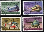 Stamps : Europe : Russia :  1980 helicopteros