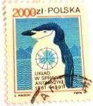 Stamps : Europe : Poland :  30 ANIVERSARIO DEL TRATADO ANTARTICO