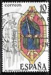 Sellos de Europa - España -  Vidrieras artísticas - Catedral de León