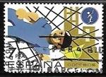 Sellos de Europa - España -  Prevención de accidentes laborales - Caída sobre la red protectora