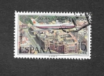 Stamps : Europe : Spain :  L Aniversario del Correo Aéreo