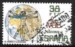 Stamps Spain -  El hombre y la biosfera - Las proporciones del cuerpo humano