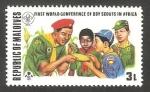 Stamps of the world : Maldives :  Primera conferencia mundial de boy scouts en África