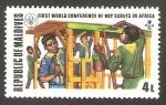 Stamps : Asia : Maldives :  Primera conferencia mundial de boy scouts en África