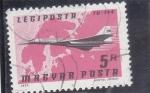 Sellos de Europa - Hungría -  AVIÓN-TU-144