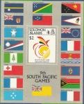 Sellos del Mundo : Oceania : Islas_Salomón : 28 H.B. - Juegos deportivos del Pacífico Sur