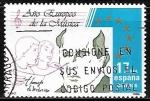 Stamps Spain -  Año Europeo de la música - Tomás Luis de Victória