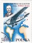 Stamps Poland -  PRIMER VUELO ATLANTICO DESDE POLONIA