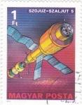 Stamps Hungary -  AERONAUTICA-SZOJUZ-SZALJUT 5