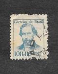 Sellos de America - Brasil -  Antônio Gonçalves Dias