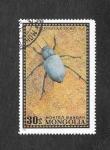 Sellos de Asia - Mongolia -  Escarabajo