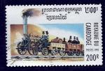 Stamps Cambodia -  Locomotora
