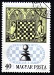 Stamps : Europe : Hungary :  50 Aniversario de la Federación Internacional de Ajedrez