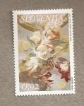 Sellos del Mundo : Europa : Eslovenia : Arte barroco:Iglesia San Nicolás, Liubliana