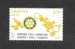 Sellos del Mundo : Europa : Croacia : Rotary Internacional