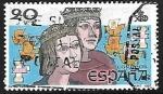 Stamps of the world : Spain :  V Centenário del descubrimiento de América - Los Reyes Católicos
