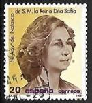 Stamps Spain -  50º Aniversário natalício de SS.MM. los Reyes de España