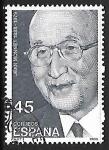 Sellos de Europa - España -  Centenarios personalidades - Jean Monnet