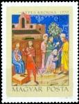 Sellos de Europa - Hungría -  Ilustraciones de Képes Krónika