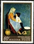 Stamps of the world : Hungary :  Hermano y hermana por Adolf Fényes