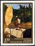 Stamps : Europe : Hungary :  Octubre por Károly Ferenczy