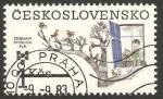 Sellos del Mundo : Europa : Checoslovaquia : 2543 - Niños mirando por la ventana a los pájaros del árbol