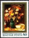 Sellos de Europa - Hungría -  Flowers, by Mihály Munkácsy