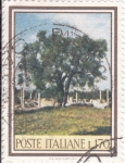 Sellos de Europa - Italia -  PINTURA- PAISAJE