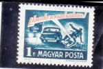 Sellos de Europa - Hungría -  DISTANCIA DE SEGURIDAD