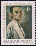 Sellos de Europa - Hungría -  Bertalan Pór, autorretrato