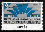 Stamps of the world : Spain :  I Centenario de la Exposición Universal de Barcelona