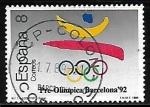 Sellos del Mundo : Europa : España : Barcelona'92 - Logotipo y aros olímpicos