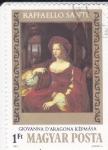 Stamps Hungary -  RETRATO DE GIOVANNA D'ARAGONA